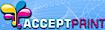 Raisedinkbusinesscards's Competitor - Acceptprint logo