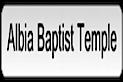 Albia Baptist Temple's Company logo