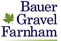 Bauer Gravel Farnham's Company logo
