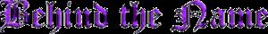 Behindthename's Company logo