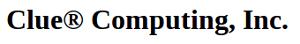 Clue Computing's Company logo