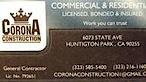 Corona Construction1's Company logo