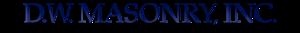 D.w. Masonry's Company logo