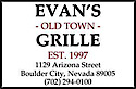 Evan's Old Town Grille's Company logo