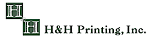 H And H Printing's Company logo