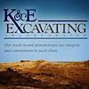 K & E Excavating's Company logo