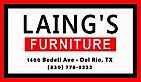 Laing's Furniture Del Rio's Company logo