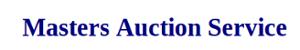 Masters Auction Service's Company logo