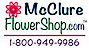 Mcclure Flower Shop Logo