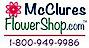 Mcclures Flower Shop Logo