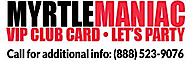 Myrtlemaniac Card- Spring Break/ Senior Week Party Program's Company logo