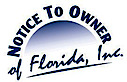 Notice to Owner of Florida's Company logo