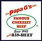 Papa G's Gyros Burgers Cheezy Beef's Company logo
