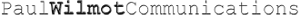 Paul Wilmot Communications's Company logo
