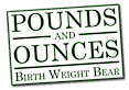 Pounds And Ounces - Birth Weight Bear's Company logo