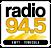 News Radio 96.7's Competitor - Radio 94.5 Kmyt - World Class Rock logo