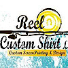 Reel Custom Shirt's Company logo