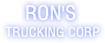 Ron's Trucking's Company logo
