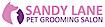 Sandy Lane Dog Grooming Salon Logo