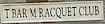 T Bar M Racquet Club Logo