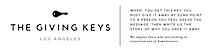 The Giving Keys. Ecommerce Software's Company logo