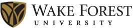 Wake Forest University's Company logo